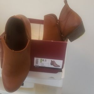 Sassy and sensual ankle boot in Cognac brown 8.5